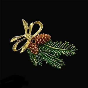 VTG 1970/1980s Gerry's Christmas Holiday Brooch